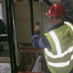 Clive Kelly doing walk around inspection checks on isolator