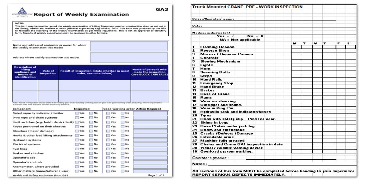 Examination report template